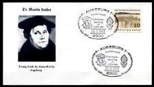 Reformator Martin Luther. Lutherjahr. Lutherstadt Augsburg. SoSt. 591. BRD 1983
