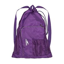 Speedo Swim Deluxe Ventilator Mesh Pool Gear Swimming Bag -Purple -Prism Violet
