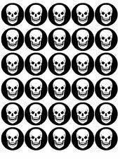 "Halloween -30 x 1.5"" Rice Paper Cake Toppers -FREE Delivery D5"