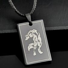 COOL Stainless Steel Wolf Pendant Necklace ST01