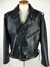 Jamin Leather Men Motorcycle Jacket Size 52 3XL Black Thinsulate HEAVY