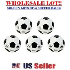 (LOT OF 5X) Official Soccer Balls Size 5 Wholesale Bulk Outdoor/Indoor Ball NEW