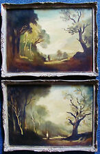 PHILIP H. PADWICK - TWO (2) LANDSCAPE PAINTINGS - C.1910 - FREE SHIP IN US !!!