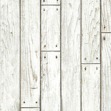 White Wood Panel Wallpaper Prepasted Rustic Wall Vovering Contact Paper Sheets