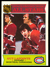1975-76 OPC O PEE CHEE 293 GUY LAPOINTE EX-NM ALL STAR MONTREAL CANADIENS HOCKEY