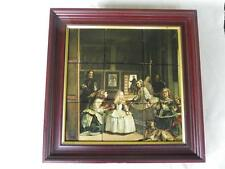"Museo Del Prado Painting ""LAS MENINAS"" Diego Velazquez FRAMED TILE Tiled Picture"