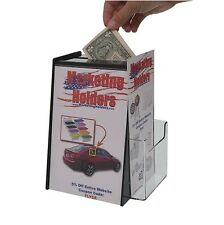 "Ballot Box W/ Sign Display For 5.5"" x 8.5"" Literature and Brochure Holder"
