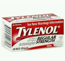 2x Tylenol Regular Strength 100  Tablets (Total 200 tablets)