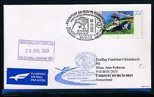 66466) lh/anz FF Frankfurt-Christchurch New Zealand 20.7.98, francos belgas EF 300pf