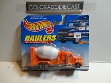 Hot Wheels Haulers Orange Cement Truck