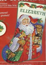 "Christmas Holiday Counted Cross Stocking KIT "" SLEIGH BELL SANTA "" Donna Race"