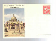 Mint Vatican Postal Stationery ps Picture postal card St Peters Cathedral Square