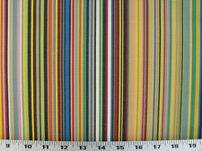 Drapery Upholstery Fabric Indoor/Outdoor Stripe Withstands 100K Dbl Rubs - Multi