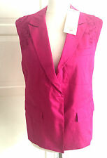 Matthew Williamson For h&m Cardigan chaleco opaca Pink bordado talla 38 us 8