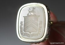 GEORGIAN Intaglio Fob Wax Seal Armorial POPE Family Arms Crest Sceau Petschaft