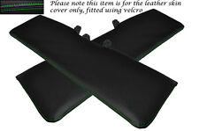 GREEN STITCHING 2X SUN VISORS LEATHER COVERS ONLY FITS TALBOT MOTORHOME