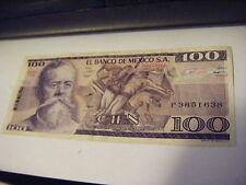 3 Sept 1981 Cien Pesos $100 El Banco De Mexico S.A P33936787 Circulated  SERIETX