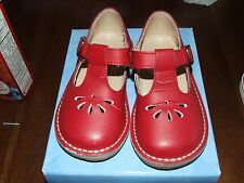 Footmates 6.5 Red Danielle T Strap Mary Jane Shoes Leather 2212 Double Buckle EH