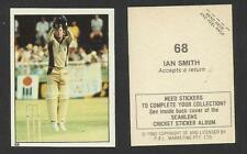 AUSTRALIA 1982 SCANLENS CRICKET STICKERS SERIES I - IAN SMITH (NEW ZEALAND) # 68