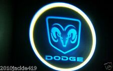NO DRILL 2 x LED Logo Light Ghost Shadow Projector Car Door Laser for DODGE