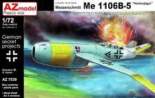 """AZ Models 1/72 KIT 7539 MESSERSCHMITT ME 1106b-5 """"hohenjäger"""" LUFTWAFFE'46"""