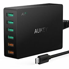 AUKEY Quick Charge 3.0 Wall Charger 60W, 6 Ports with Dual Quick charge 3.0 Port