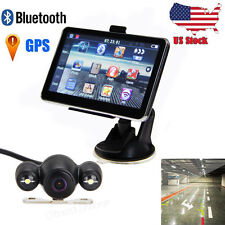 "5"" Car LCD Touch Screen Mirror 4GB/128MB GPS Navigation Bluetooth +Backup Camera"