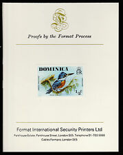 Dominica (407) 1978 Kingfisher 1/2c imperf on Format International PROOF  CARD