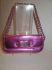 NWOT  Baby Phat Metallic Pink Rhinestone Baguette w/Crystal BLING Logo