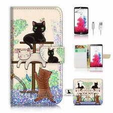 LG G4 Flip Wallet Case Cover! P1944 Cat