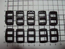 "10 x Black Plastic 3 Bar Slides Tri Glide Fasteners Clip Buckles 10mm  ""R"""