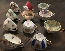 Antique Vintage Tea Cup Lot Paragon Aynsley Limoges Foley 11 Orphaned Bone China