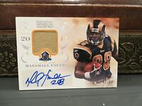 National Treasures Autograph Jersey HOF Auto Rams Marshall Faulk 42/50  2013