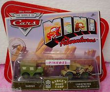 PIXAR CARS Mini Adventures Sarge's Boot Camp✿SARGE&LIGHTNING McQUEEN✿Army Green