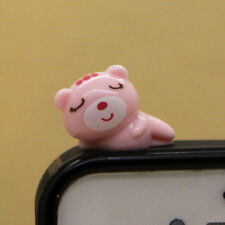 Cute animal(Pink sleepy cat) Dust Proof phone plug Cover Charm (3.5mm)