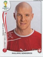 N°343 PHILIPPE SENDEROS # SWITZERLAND STICKER PANINI WORLD CUP BRAZIL 2014