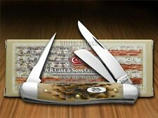 CASE XX Jigged Amber Bone Stockman Chrome Vanadium Pocket Knives Knife