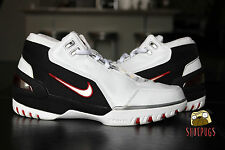 2004 Nike Air Zoom Generation Lebron James 1 size 8.5 w/ box white crimson red