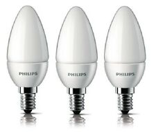 Philips 4W E14 SES Light Bulb Candle Energy Saving 250lm 2700K Triple Pack LED