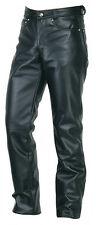 Men's Real Leather 501 Jeans Style Pants  Biker Trousers Pants