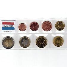 Euro OLANDA 2002 - 8 PZ FDC in Blister -