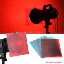 6 Color Photographic Color Gels Filter Kit for Sony YONGNUO Flash Speedlite A0A5