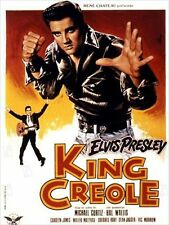 Affiche 40x60cm KING CREOLE 1958 Curtiz - Elvis Presley, Carolyn Jones R1978