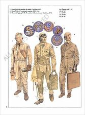 PLANCHE UNIFORMS PRINT WWII United States Air US Force USAF Pilot Squadron