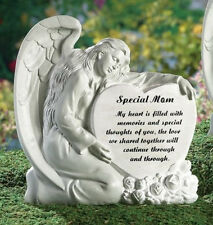 Memorial Angel MOM Heart Remembrance Garden Statue