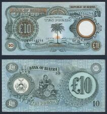 BIAFRA 10 Pounds 1969 XF+ P 7 a