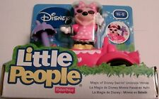 Fisher Price Little People SWIRLIN' UMBRELLA MINNIE Car Magic of Disney NEW