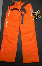 SCOTT NOWBOARD SKI PANTS GORE-TEX BIB THINSULATED TROUSERS WOMEN L ORANGE NEW