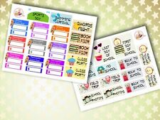 045 | 33 School Reminder Forms Holidays Events HOMEMADE Planner Stickers