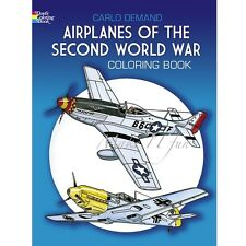 Coloring Books World War II Airplanes Stress Relief Gifts for Teenage Guys Relax